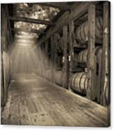 Bourbon Barrels by Glass Glow Canvas Print