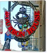 Bourbon House Signage Canvas Print