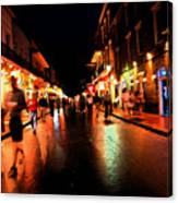 Bourbon Street At Dusk Canvas Print