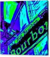 Bourbon Street In Blue Canvas Print