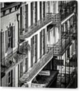 Bourbon Street Morning-bw-nola Canvas Print