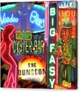 Bourbon Street Neon Canvas Print