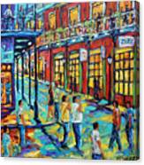 Bourbon Street New Orleans By Prankearts Canvas Print