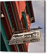 Bourbon Street Sign Canvas Print