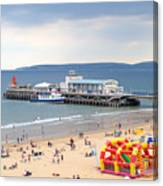 Bournemouth Pier And Beach Canvas Print