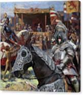 Bouvier Des Flandres - Flandres Cattle Dog Art Canvas Print - Knights Tournir Canvas Print