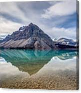 Bow Lake Reflection From Num-ti-jah Lodge  Canvas Print