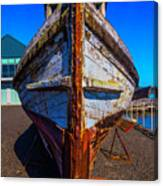 Bow Of Old Worn Boat Canvas Print