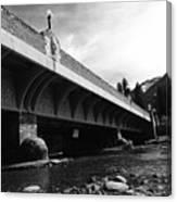 Bow River Bridge  Canvas Print