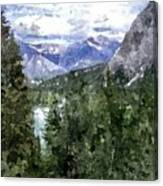 Bow River Valley In The Canadian Rockies Canvas Print