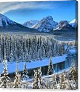 Bow River Valley View Canvas Print
