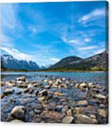 Bow Valley Campground Canvas Print