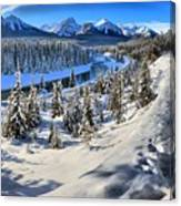 Bow Valley Mountains Canvas Print