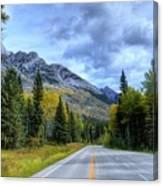 Bow Valley Parkway Banff National Park Alberta Canada Vi Canvas Print
