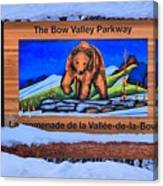 Bow Valley Parkway Snowy Entrance Canvas Print