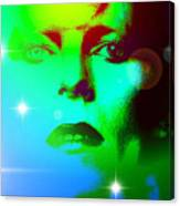 Bowie In Blue Canvas Print