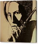 Bowie's Got A Gun Canvas Print