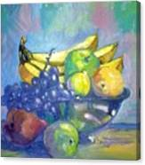 Bowl Of Fresh Fruit Canvas Print
