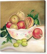 Bowl Of Renoir Canvas Print
