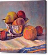 Bowl With Fruit Canvas Print