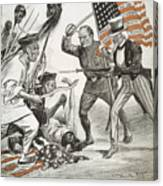 Boxer Rebellion Cartoon Canvas Print
