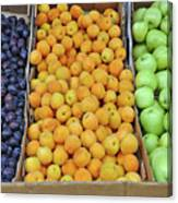 Boxes Of Fruit Canvas Print