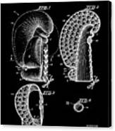 Boxing Glove Patent 1944 Black Canvas Print