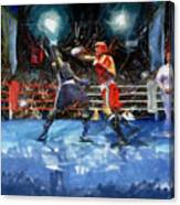 Boxing Night Canvas Print