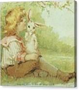 Boy And Rabbit Canvas Print