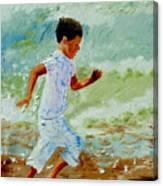 Boy By The Sea Canvas Print
