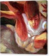 Boy Falling Canvas Print
