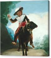 Boy On A Ram Canvas Print
