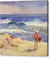 Boy On The Sand Canvas Print