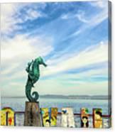 Boy On The Seahorse Canvas Print