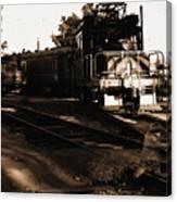 Boy On The Tracks Canvas Print