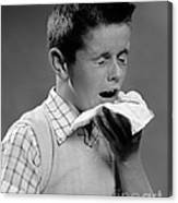 Boy Sneezing Canvas Print