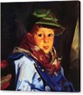 Boy With A Green Cap Also Known As Chico 1922 Canvas Print