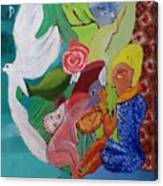 Boy With Empanadilla In His Hand Canvas Print