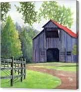 Boyd Mill Barn Canvas Print