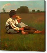 Boys In A Pasture Canvas Print