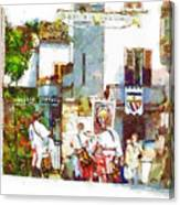 Boys In Medieval Dress Canvas Print