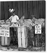 Boys Selling Lemonade, C.1940s Canvas Print