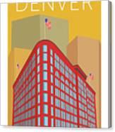 Denver Brown Palace/gold Canvas Print
