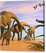 Brachiosaurus Beach Canvas Print