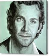 Bradley Cooper Charcoal Portrait Canvas Print