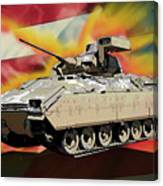 Bradley M2 Fighting Vehicle Canvas Print