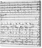 Brahms Manuscript Canvas Print