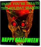 Brain Desert Halloween Card Canvas Print
