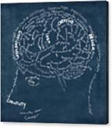 Brain Drawing On Chalkboard Canvas Print