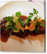 Braised Beef With Vegetables Canvas Print